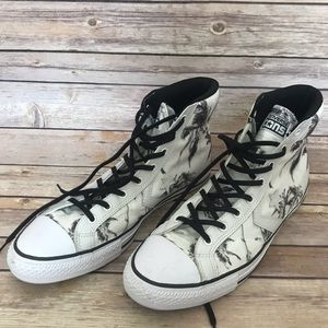 Converse high top palm tree sneakers